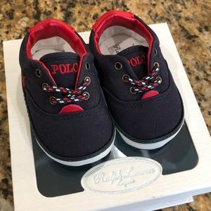 Ralph Lauren Navy Baby Boy Shoes